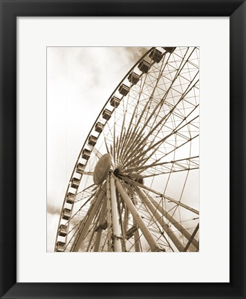 Framed Wonder Wheel 23 Print