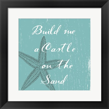 Framed Sandcastle Print
