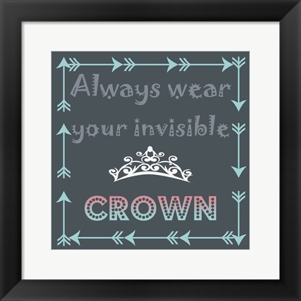 Framed Wear Your Crown Print