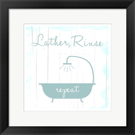 Framed Lather And Rinse Print