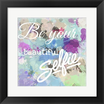 Framed Beautiful Selfie Print