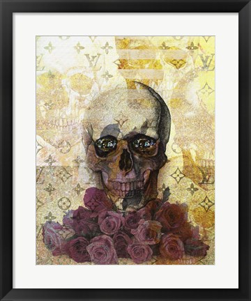 Framed Skulls And Diamonds Print
