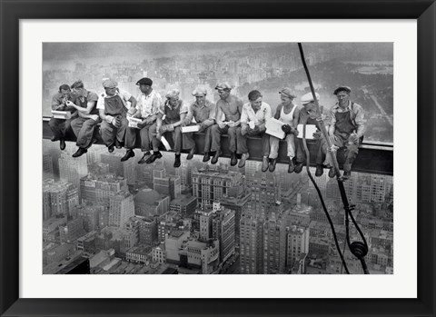 Framed New York Lunch Atop A Sky Print