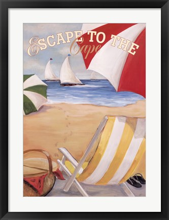 Framed Escape To The Cape Print