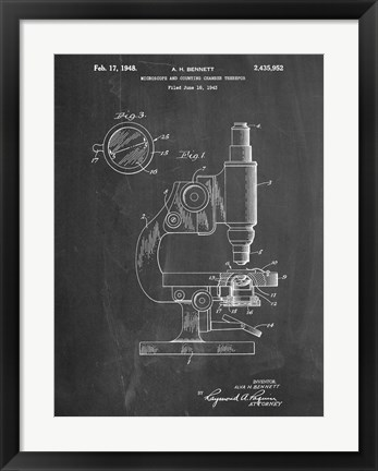 Framed Microscope Print
