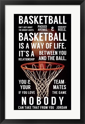 Framed Basketball is a Way of Life Print