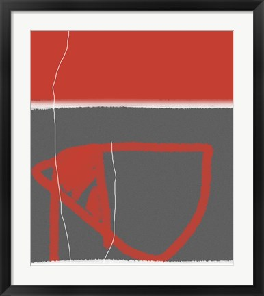 Framed Abstract Red Print