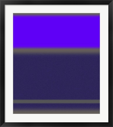 Framed Abstract Purple Print