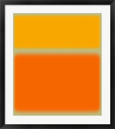 Framed Abstract Orange & Yellow Print