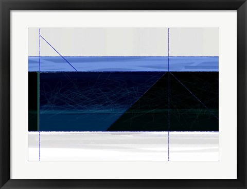 Framed Deep Blue Print