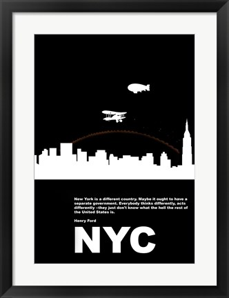 Framed New York Night Print