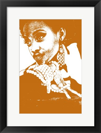 Framed Aisha Brown Print