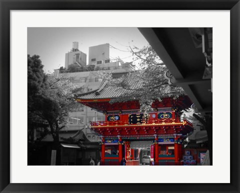 Framed Temple In Tokyo Print