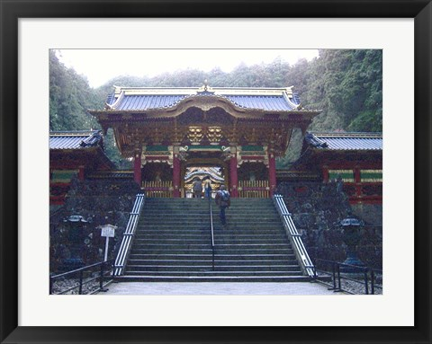 Framed Temple Entrance Print