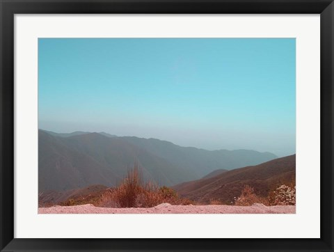 Framed Southern California Mountains 1 Print