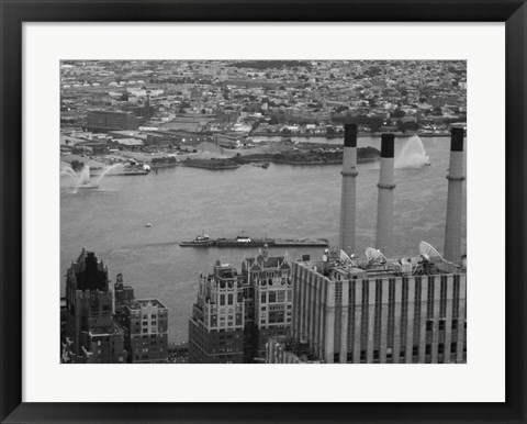Framed NYC From The Top 4 Print
