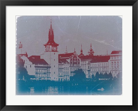 Framed Prague Golden City Print