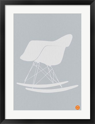 Framed Eames Rocking Chair 1 Print