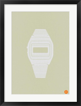 Framed White Electronic Watch Print