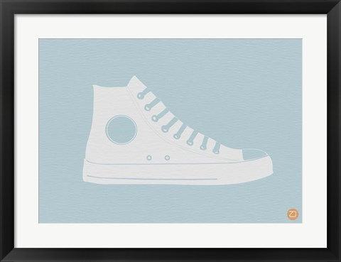Framed White Shoe Print