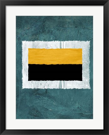 Framed Green and Yellow Abstract Theme 5 Print