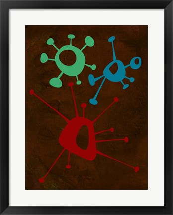 Framed Abstract Splash Theme 6 Print