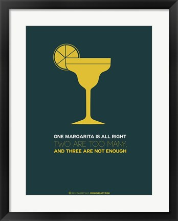 Framed Yellow Margarita Print