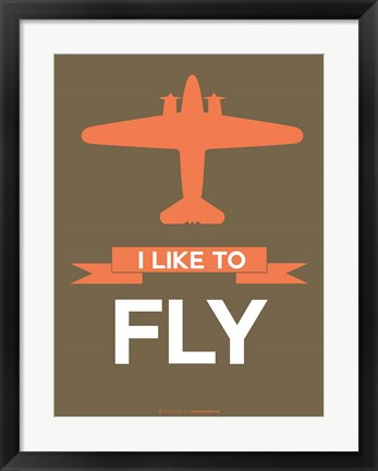 Framed I Like to Fly 5 Print