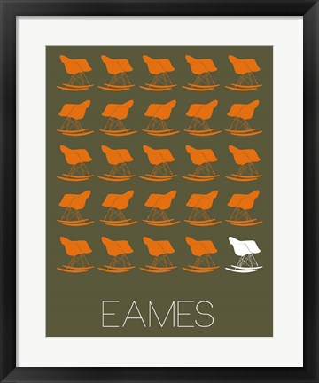 Framed Eames Rocking Chair 2 Print
