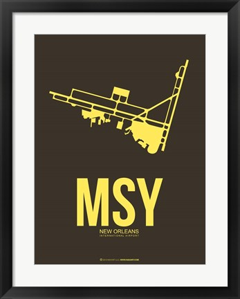 Framed MSY New Orleans 3 Print