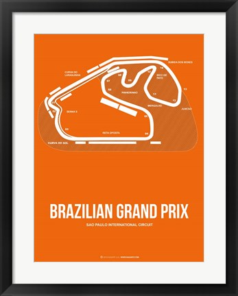 Framed Brazilian Grand Prix 3 Print