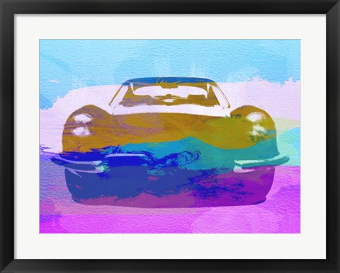 Framed Jaguar E Type Front Print