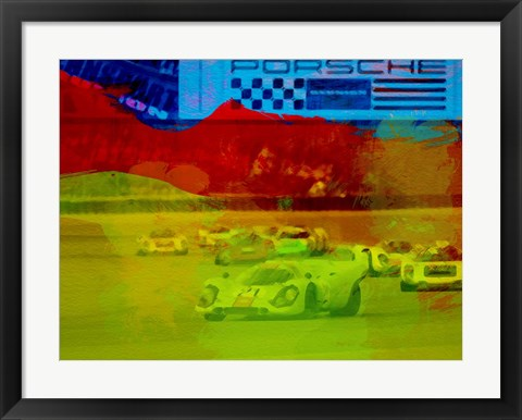 Framed Porsche 917 Racing Print