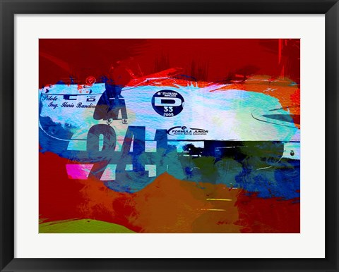 Framed Laguna Seca Racing Cars 1 Print