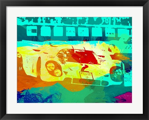 Framed Porsche 917 Watercolor Print