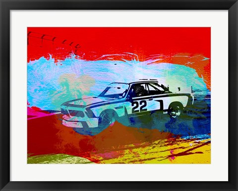 Framed BMW 3.0 CSL Racing Print
