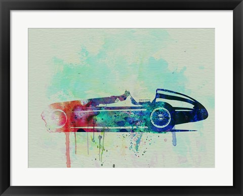 Framed Alfa Romeo Tipo Watercolor Print