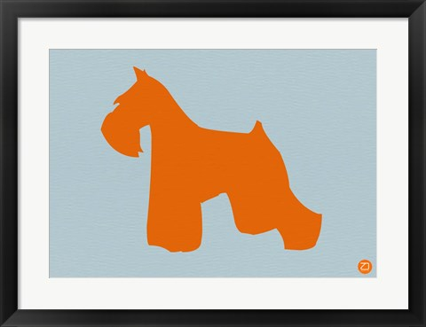 Framed Miniature Schnauzer Orange Print