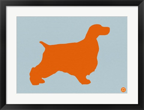 Framed Springer Spaniel Orange Print