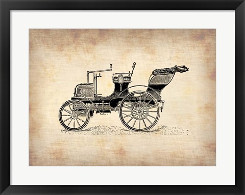 Framed Classic Old Car 2 Print