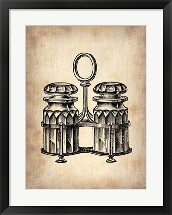 Framed Vintage Salt and Pepper Print
