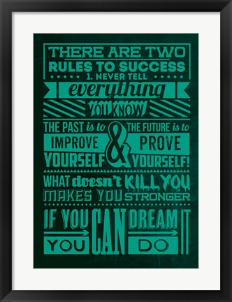 Framed Success Set Green Print