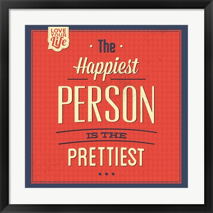 Framed Happy Person Print