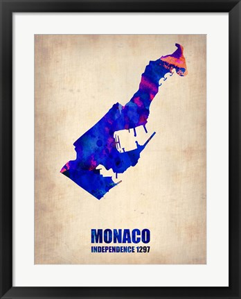 Framed Monaco Watercolor Print