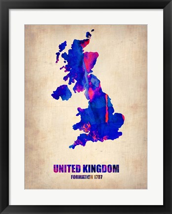 Framed UK Watercolor Print