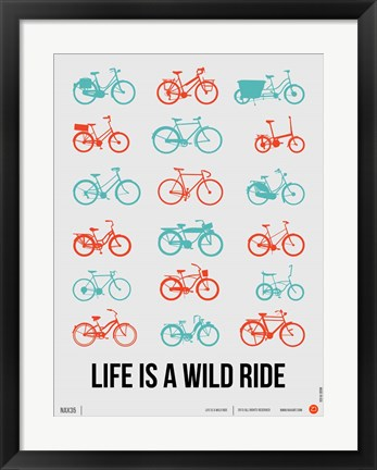Framed Life is a Wild Ride 2 Print