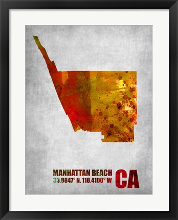 Framed Manhattan Beach California Print