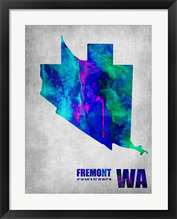 Framed Freemont Washington Print