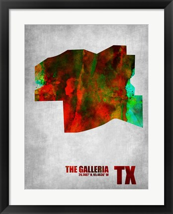 Framed Galleria Texas Print
