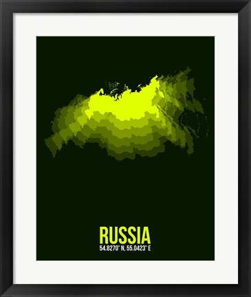 Framed Russia Radiant Map 3 Print